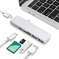 billiga Dagliga erbjudanden-Typ-C USB-kabeladapter Allt-i-1 Adaptor Till Macbook / MacBook Air / MacBook Pro 0 cm Till Aluminum