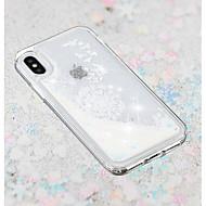 Недорогие Кейсы для iPhone 8 Plus-Кейс для Назначение Apple iPhone X / iPhone 8 Plus Движущаяся жидкость / Прозрачный / С узором Кейс на заднюю панель одуванчик Мягкий ТПУ для iPhone X / iPhone 8 Pluss / iPhone 8