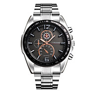 cheap -Men's Wrist Watch Cool / Large Dial Stainless Steel Band Casual / Fashion Silver