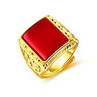 お買い得  -男性用 合成ルビー スタイリッシュ 指輪  -  創造的 ファッション 調整可 ブラック / レッド / グリーン 用途 日常 パーティー