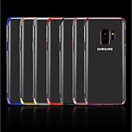 Недорогие Чехлы и кейсы для Galaxy A7(2016)-Кейс для Назначение SSamsung Galaxy A8 2018 / A6 (2018) Покрытие / Прозрачный Кейс на заднюю панель Однотонный Мягкий ТПУ для A5(2018) / A6 (2018) / A6+ (2018)