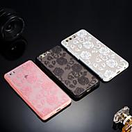 お買い得  携帯電話ケース-ケース 用途 Huawei Honor 9 Lite / Honor 7X つや消し / 半透明 / エンボス加工 バックカバー レース印刷 ハード アクリル のために Huawei Honor 9 Lite / Honor 7X / Honor 7A