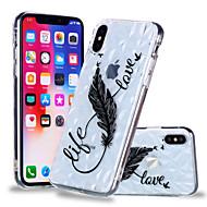 Недорогие Кейсы для iPhone 8 Plus-Кейс для Назначение Apple iPhone X / iPhone 8 Plus С узором Кейс на заднюю панель Перья Мягкий ТПУ для iPhone X / iPhone 8 Pluss / iPhone 8