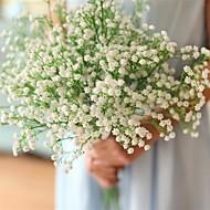 abordables Flores Artificiales-Flores Artificiales 12 Rama Clásico Modern Gipsófila Flor de Mesa