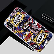 Недорогие Кейсы для iPhone 8-Кейс для Назначение Apple iPhone X / iPhone 8 Полупрозрачный / С узором Кейс на заднюю панель Слова / выражения Мягкий ТПУ для iPhone X / iPhone 8 Pluss / iPhone 8