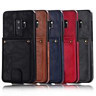Недорогие Чехлы и кейсы для Galaxy S8-Кейс для Назначение SSamsung Galaxy S9 Plus / S8 Plus Кошелек / Бумажник для карт / со стендом Кейс на заднюю панель Однотонный Твердый Кожа PU для S9 / S9 Plus / S8 Plus