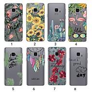 Недорогие Чехлы и кейсы для Galaxy S9 Plus-Кейс для Назначение SSamsung Galaxy S9 Plus / S9 Ультратонкий / Прозрачный Чехол Растения Мягкий ТПУ для S9 / S9 Plus / S8 Plus
