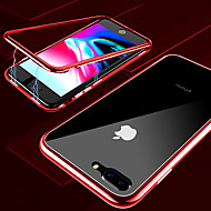 abordables Fundas para iPhone 8-Funda Para Apple iPhone X / iPhone XS Max Transparente Funda de Cuerpo Entero Un Color Dura Vidrio Templado / Metal para iPhone XS / iPhone XR / iPhone XS Max