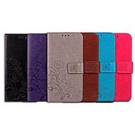 Capinha Para Nokia Nokia 2.1 Porta-Cartão / Flip Capa Proteção Completa Sólido / Mandala Macia PU Leather para Nokia 2.1