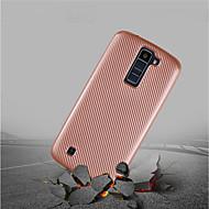 お買い得  携帯電話ケース-ケース 用途 LG Q6 / K10(2017) 超薄型 / つや消し バックカバー ソリッド ソフト カーボンファイバー のために LG Q6 / LG K10(2017) / LG K8