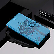 Недорогие Чехлы и кейсы для Galaxy S8-Кейс для Назначение SSamsung Galaxy S9 Plus / S9 Кошелек / Бумажник для карт / со стендом Чехол Кот / дерево Твердый Кожа PU для S9 / S9 Plus / S8 Plus