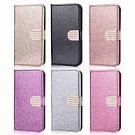 Недорогие Чехлы и кейсы для Galaxy Note 8-Кейс для Назначение SSamsung Galaxy Note 9 / Note 8 Кошелек / Бумажник для карт / Стразы Чехол Однотонный / Сияние и блеск / Стразы Твердый Кожа PU для Note 9 / Note 8