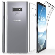 Недорогие Чехлы и кейсы для Galaxy Note-Кейс для Назначение SSamsung Galaxy Note 9 / Note 8 Прозрачный Чехол Однотонный Мягкий ТПУ для Note 9 / Note 8 / Note 5