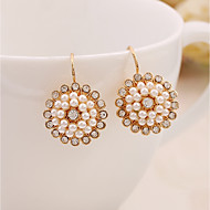 cheap -Women's 3D Drop Earrings - Imitation Pearl Flower Stylish, Classic Gold For Daily