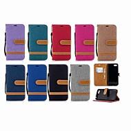 お買い得  携帯電話ケース-ケース 用途 Huawei Y9 (2018)(Enjoy 8 Plus) / Y6 (2018) ウォレット / カードホルダー / スタンド付き フルボディーケース ソリッド ハード 繊維 のために Mate 10 / Mate 9 / Y9 (2018)(Enjoy 8 Plus)