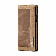 Недорогие Кейсы для iPhone 8 Plus-CaseMe Кейс для Назначение Apple iPhone X Кошелек / Бумажник для карт / Флип Чехол Однотонный Твердый текстильный для iPhone X / iPhone 8 Pluss / iPhone 8