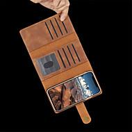 Недорогие Кейсы для iPhone 8-Кейс для Назначение Apple iPhone XR / iPhone XS Max Бумажник для карт / Защита от удара / Флип Чехол Однотонный Твердый Кожа PU для iPhone XS / iPhone XR / iPhone XS Max