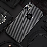 Недорогие Кейсы для iPhone 8 Plus-Кейс для Назначение Apple iPhone X / iPhone 8 Ультратонкий / Матовое Кейс на заднюю панель Однотонный Мягкий Углеродное волокно для iPhone X / iPhone 8 Pluss / iPhone 8
