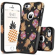 BENTOBEN מגן עבור Apple מגן אייפון5 עמיד בזעזועים / תבנית כיסוי אחורי צמחים / פירות קשיח PC ל iPhone SE / 5s / iPhone 5