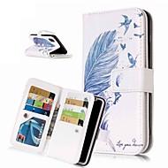 Недорогие Кейсы для iPhone 8 Plus-Кейс для Назначение Apple iPhone XR / iPhone XS Max Кошелек / Бумажник для карт / со стендом Чехол Перья Твердый Кожа PU для iPhone XS / iPhone XR / iPhone XS Max
