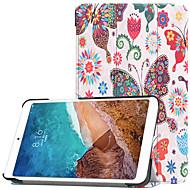 お買い得  携帯電話ケース-ケース 用途 Xiaomi Xiaomi Tab 4 スタンド付き / フリップ / パターン フルボディーケース バタフライ ハード PC のために Xiaomi Tab 4