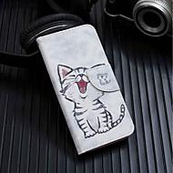 お買い得  携帯電話ケース-ケース 用途 Xiaomi Redmi 6 ウォレット / カードホルダー / スタンド付き フルボディーケース 猫 ハード PUレザー のために Redmi 6A / Redmi 6