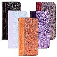 Недорогие Чехлы и кейсы для Galaxy S9-Кейс для Назначение SSamsung Galaxy S9 / S8 Бумажник для карт / со стендом / Флип Чехол Сияние и блеск Твердый Кожа PU для S9 / S9 Plus / S8 Plus