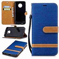 お買い得  携帯電話ケース-ケース 用途 Motorola MOTO G6 / G5 Plus ウォレット / カードホルダー / スタンド付き フルボディーケース ソリッド ハード 繊維 のために MOTO G6 / モトG5プラス / Moto G5