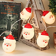 cheap -1m String Lights 10 LEDs Warm White Adorable AA Batteries Powered 5pcs