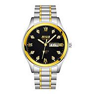 お買い得  -BOSCK 機械式時計 エミッタ 耐水, カレンダー ゴールド / ホワイト / ブラック / 1年間
