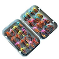 32 pcs Αρχεία Atrăgătoare Pescuit Αρχεία Μεταλλικό ABS Χειροποίητο Εύκολο στη μεταφορά Επιπλέει Θαλάσσιο Ψάρεμα Ψάρεμα με Μύγα Δολώματα πετονιάς / Ψάρεμα Πάγου / Περιστρεφόμενο / Jigging Fishing