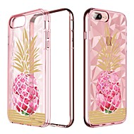 abordables Fundas para iPhone 8 Plus-funda bentoben para apple iphone 8 plus / iphone 7 plus chapado / translúcido / patrón contraportada fruta suave tpu / pc para iphone 8 plus / iphone 7 plus / iphone 6s plus