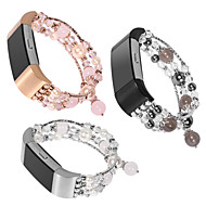 Недорогие Аксессуары для смарт-часов-Ремешок для часов для Fitbit Charge 2 Fitbit Дизайн украшения Керамика Повязка на запястье