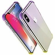 Недорогие Кейсы для iPhone 8 Plus-Кейс для Назначение Apple iPhone X / iPhone 8 Защита от удара Кейс на заднюю панель Градиент цвета Твердый Акрил для iPhone X / iPhone 8 Pluss / iPhone 8
