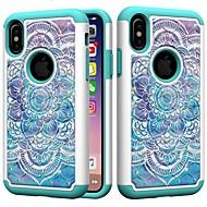 Недорогие Кейсы для iPhone 8 Plus-Кейс для Назначение Apple iPhone XR / iPhone XS Max Защита от удара / Стразы Кейс на заднюю панель Мандала / Стразы Твердый ПК для iPhone XS / iPhone XR / iPhone XS Max