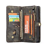 Недорогие Чехлы и кейсы для Galaxy S8-CaseMe Кейс для Назначение SSamsung Galaxy S9 Plus / S9 Кошелек / Бумажник для карт / Флип Чехол Однотонный Твердый ТПУ для S9 / S9 Plus / S8 Plus