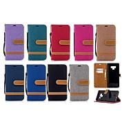 Недорогие Чехлы и кейсы для Galaxy Note 8-Кейс для Назначение SSamsung Galaxy Note 9 / Note 8 Кошелек / Бумажник для карт / со стендом Чехол Однотонный Твердый текстильный для Note 9 / Note 8