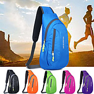 cheap -8 L Hiking Sling Backpack - Lightweight, Rain-Proof, Breathability Outdoor Fishing, Hiking, Travel Polyester Fuchsia, Green, Blue