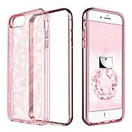Недорогие Кейсы для iPhone 8 Plus-Кейс для Назначение Apple iPhone 8 Plus / iPhone 7 Plus Покрытие / Полупрозрачный Кейс на заднюю панель Однотонный Мягкий ТПУ / ПК для iPhone 8 Pluss / iPhone 7 Plus / iPhone 6s Plus
