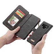 Недорогие Чехлы и кейсы для Galaxy Note-Кейс для Назначение SSamsung Galaxy Note 9 / Note 8 Кошелек / Бумажник для карт / Флип Чехол Однотонный Твердый Кожа PU для Note 9 / Note 8 / Note 5