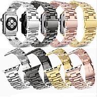 cheap -Smartwatch Band for Apple Watch Series 4/3/2/1 Apple Butterfly Buckle Stainless Steel Wrist Strap