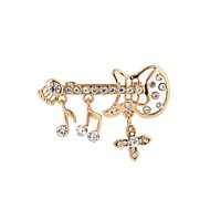 cheap -Women's Hollow Out Brooches - Guitar Simple, Elegant Brooch Gold For Daily