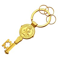 cheap -Keychain Gold / Silver Copper, Gold Plated Classic For Gift / Daily