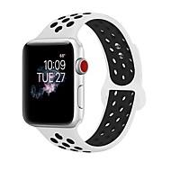 silika gel Pogledajte Band Remen za Apple Watch Series 3 / 2 / 1 Crna / Bijela 23 cm / 9 inča 2.1cm / 0.83 Palac