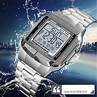 SKMEI Ανδρικά Ρολόι Φορέματος Ρολόι Καρπού Ψηφιακό ρολόι Ιαπωνικά Ψηφιακό Ανοξείδωτο Ατσάλι Ασημί / Χρυσό / Χρυσό Τριανταφυλλί 30 m Ανθεκτικό στο Νερό Ημερολόγιο Χρονόμετρο Ψηφιακό / Νυχτερινή λάμψη