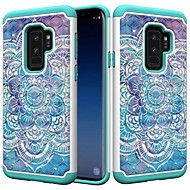 Недорогие Чехлы и кейсы для Galaxy S9 Plus-Кейс для Назначение SSamsung Galaxy S9 Plus / S8 Plus Защита от удара / Стразы / С узором Кейс на заднюю панель Мандала / Стразы Твердый ПК для S9 / S9 Plus / S8 Plus