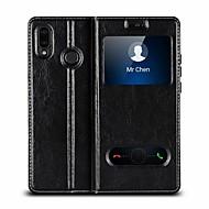 お買い得  携帯電話ケース-ケース 用途 Huawei P20 Pro / P20 lite 耐衝撃 / スタンド付き / フリップ フルボディーケース ソリッド ハード 本革 のために Huawei P20 / Huawei P20 Pro / Huawei P20 lite