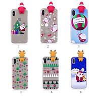 Недорогие Модные популярные товары-Кейс для Назначение Apple iPhone X / iPhone 8 Plus С узором / Своими руками Кейс на заднюю панель Рождество Мягкий ТПУ для iPhone X / iPhone 8 Pluss / iPhone 8