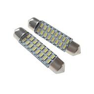 halpa -SENCART 2pcs 41mm Auto Lamput 3 W SMD 3014 120-160 lm 16 LED sisävalot / Ulkovalot Käyttötarkoitus