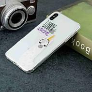 Недорогие Кейсы для iPhone 8 Plus-Кейс для Назначение Apple iPhone XR / iPhone XS Max Прозрачный / С узором Кейс на заднюю панель Животное Мягкий ТПУ для iPhone XS / iPhone XR / iPhone XS Max